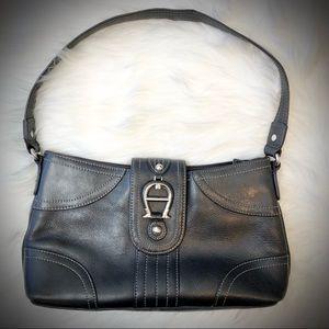 Etienne Aigner Black Leather Shoulder Purse